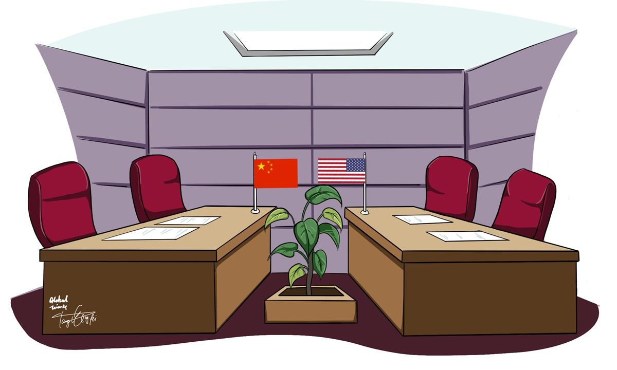 Trade talks  Illustration:Tang Tengfei/GT