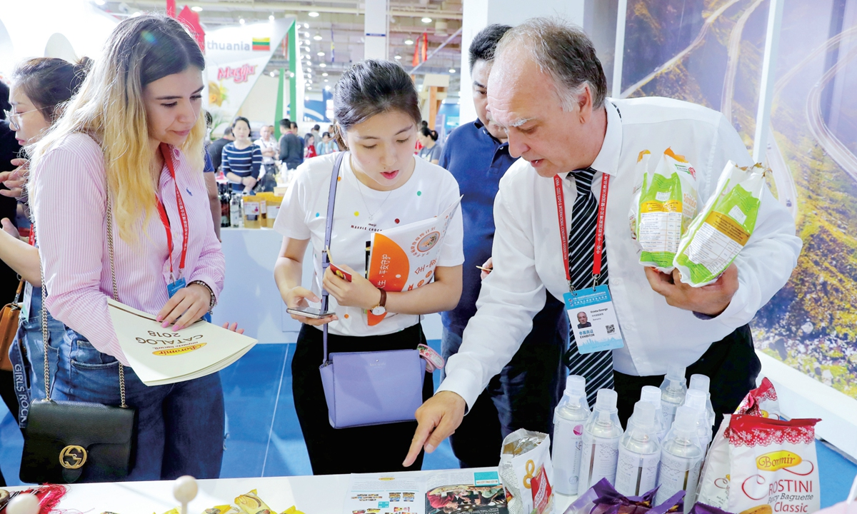 Participants at Hall 5 of the first China-CEEC Expo in 2019  Photo: Courtesy of the publicity department of Ningbo