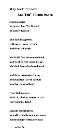 Mei An's poem Photo: Courtesy of Xiao Wu