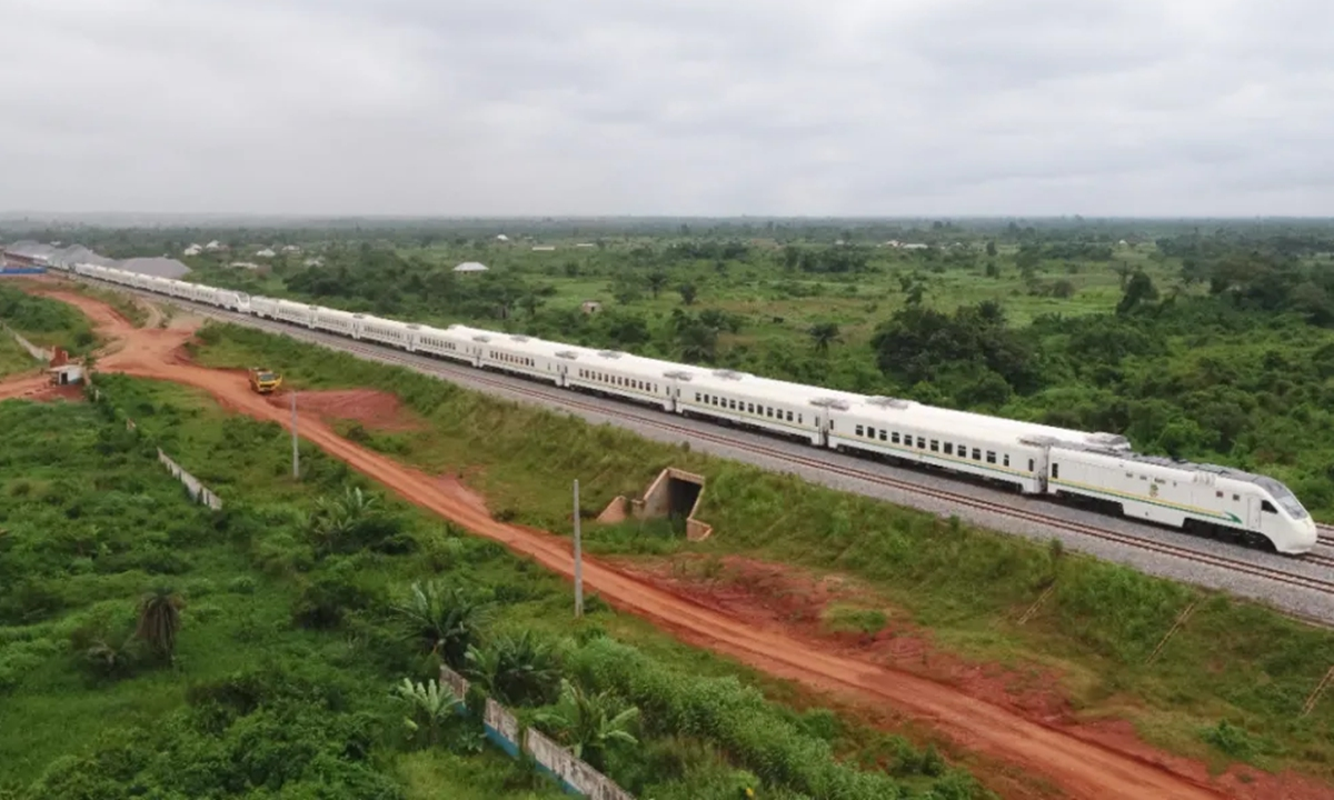 A view of Nigeria's Lagos-Ibadan railway. Photo: Coutesy of China Civil Engineering Construction Corporation