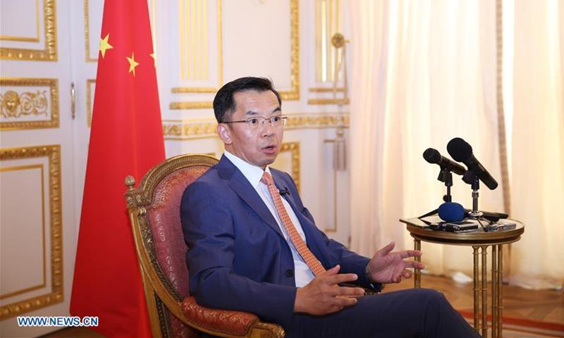 Chinese ambassador to France Lu Shaye. Photo: Xinhua