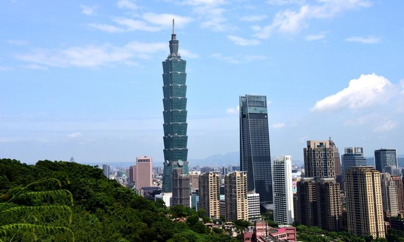 The Taipei 101 skyscraper in Taipei,the island of Taiwan File Photo:Xinhua