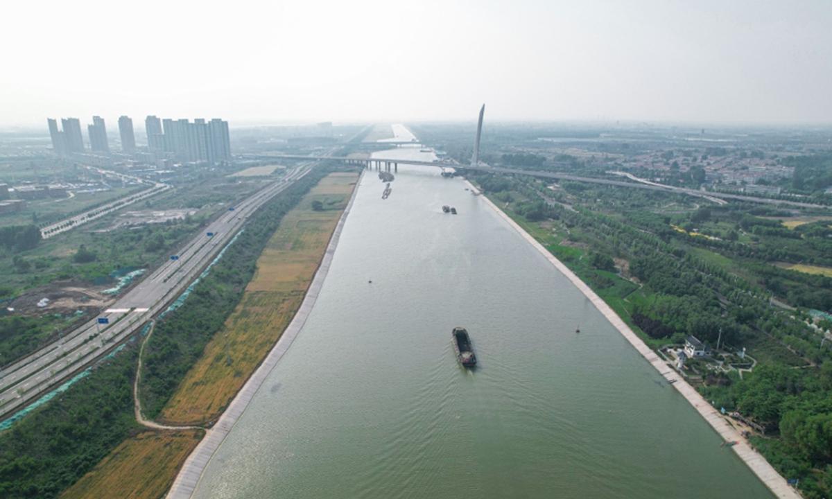 The Jining section of Beijing-Hangzhou Grand Canal. Photo: Yang Ruoyu/GT