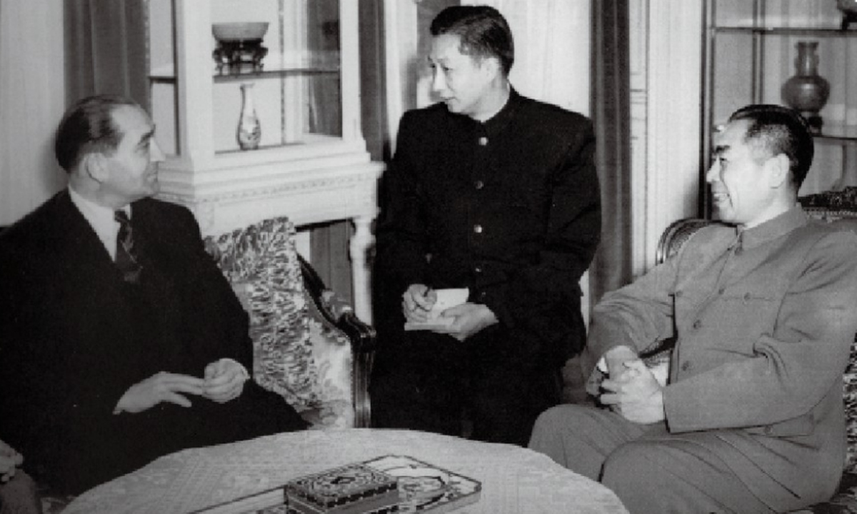 On 19 June 1954, Premier and Foreign Minister Zhou Enlai and French Prime Minister and Foreign Minister Pierre Mendès France first discussed establishing diplomatic relations at the Chinese embassy in Switzerland.