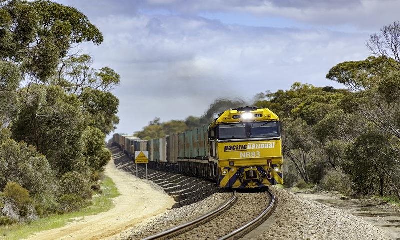 A freight train in Australia Photo: VCG