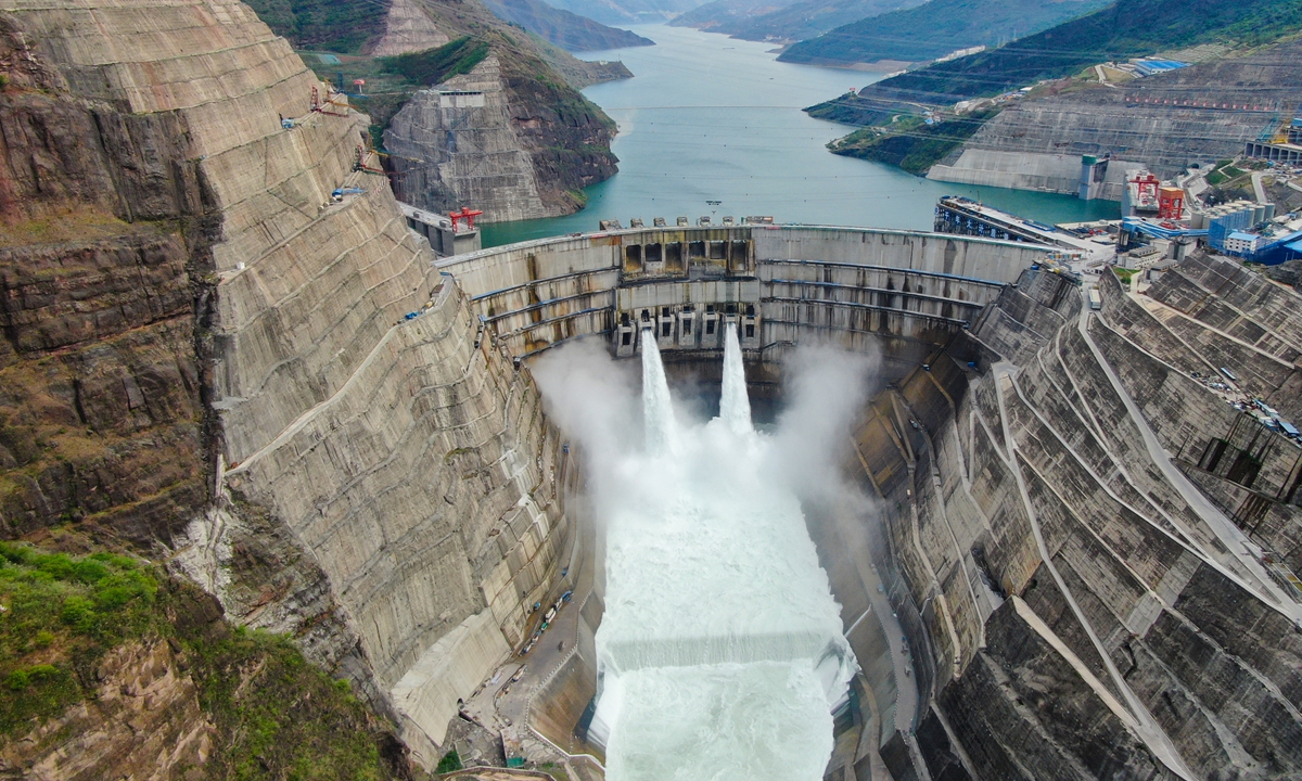 The first batch of million-kilowatt generating units, with the largest single-unit capacity in the world begins operation on Monday at Baihetan Hydropower Station, the world's largest hydropower project under construction. Photo: IC