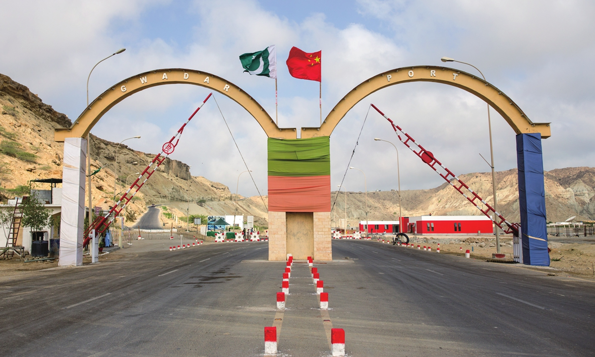 The entrance of Chinese-invested Gwadar Port in Pakistan Photo: cnsphoto