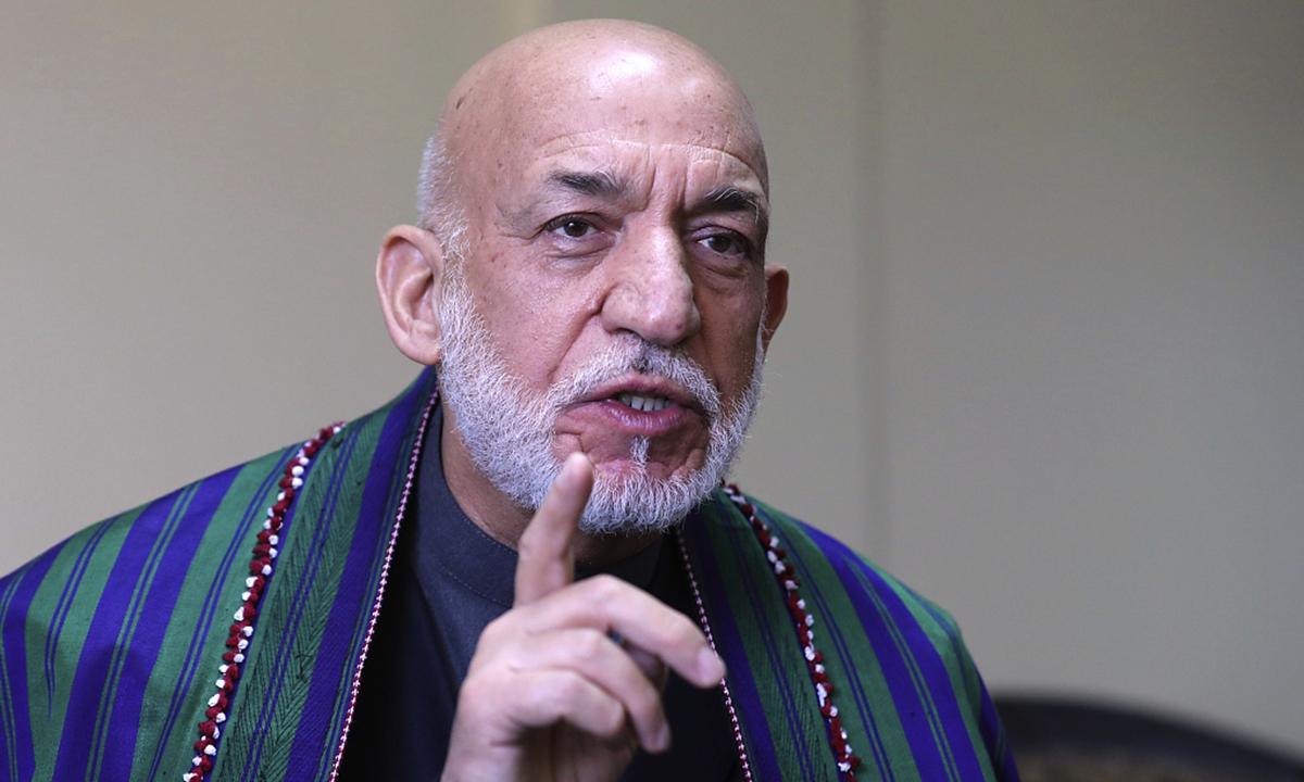 Afghanistan's former president Hamid Karzai. Photo: VCG