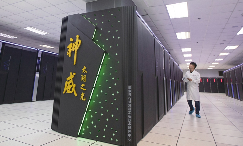 A scientist works at the National Supercomputing Center in Wuxi, East China's Jiangsu Province in August 2020. Photo: cnsphoto