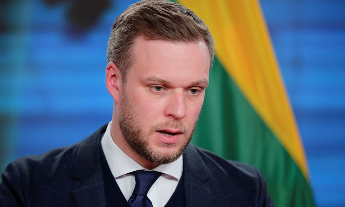 Lithuanian Foreign Minister Gabrielius Landsbergis file photo:VCG