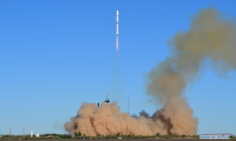 A Long March-4C rocket carrying the Fengyun-3E (FY-3E) satellite blasts off from the Jiuquan Satellite Launch Center in northwest China, July 5, 2021. China sent a new meteorological satellite into planned orbit from the Jiuquan Satellite Launch Center in northwest China on Monday morning.(Photo: Xinhua)