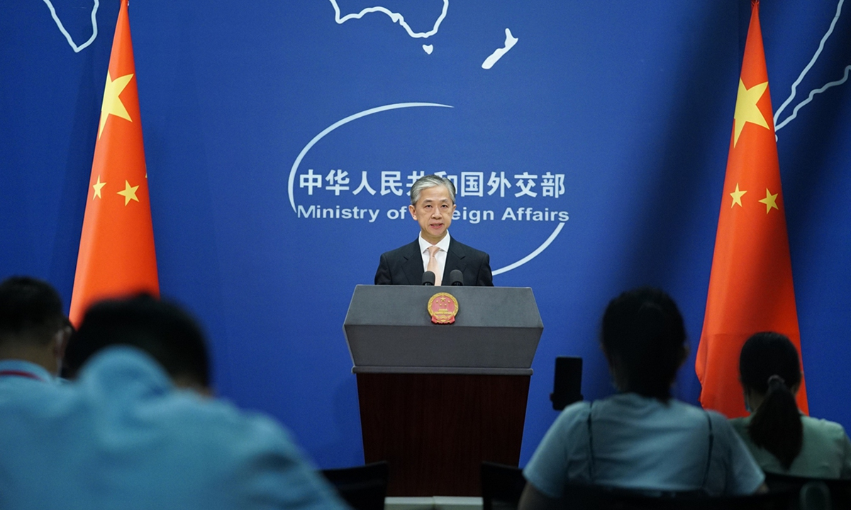 China's Foreign Ministry spokesperson Wang Wenbin. Photo: VCG