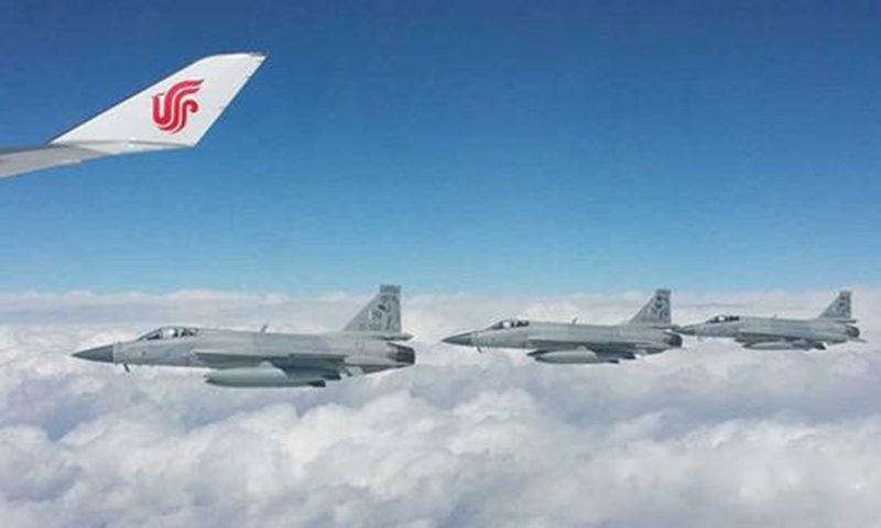 On April 20, 2015, President Xi Jinping pays a state visit to Pakistan. Eight Pakistani Air Force JF-17 Thunder fighter jets escorted President Xi's plane.