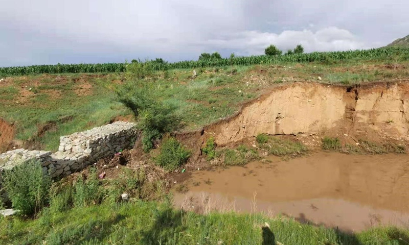 A control dam constructed in a ditch in Xigou, Balin Left Banner, Chifeng city, North China's Inner Mongolia. Photo: Lu Yameng/GT