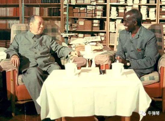 Chairman Mao Zedong meeting with Kenneth Kaunda
