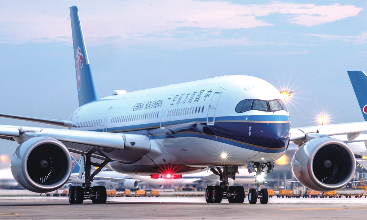 A flight of China Southern Airlines Photo: Courtesy of China Southern Airlines