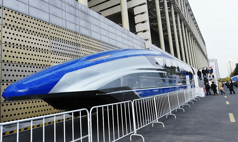 China's homegrown high-speed maglev Photo:CFP