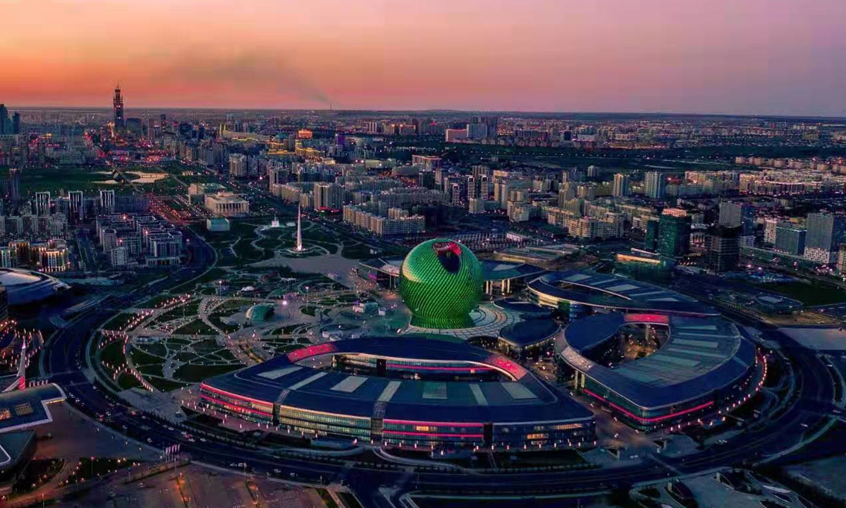 Buildings in the capital of Kazakhstan, including AIFC. Photo: Courtesy of AIFC