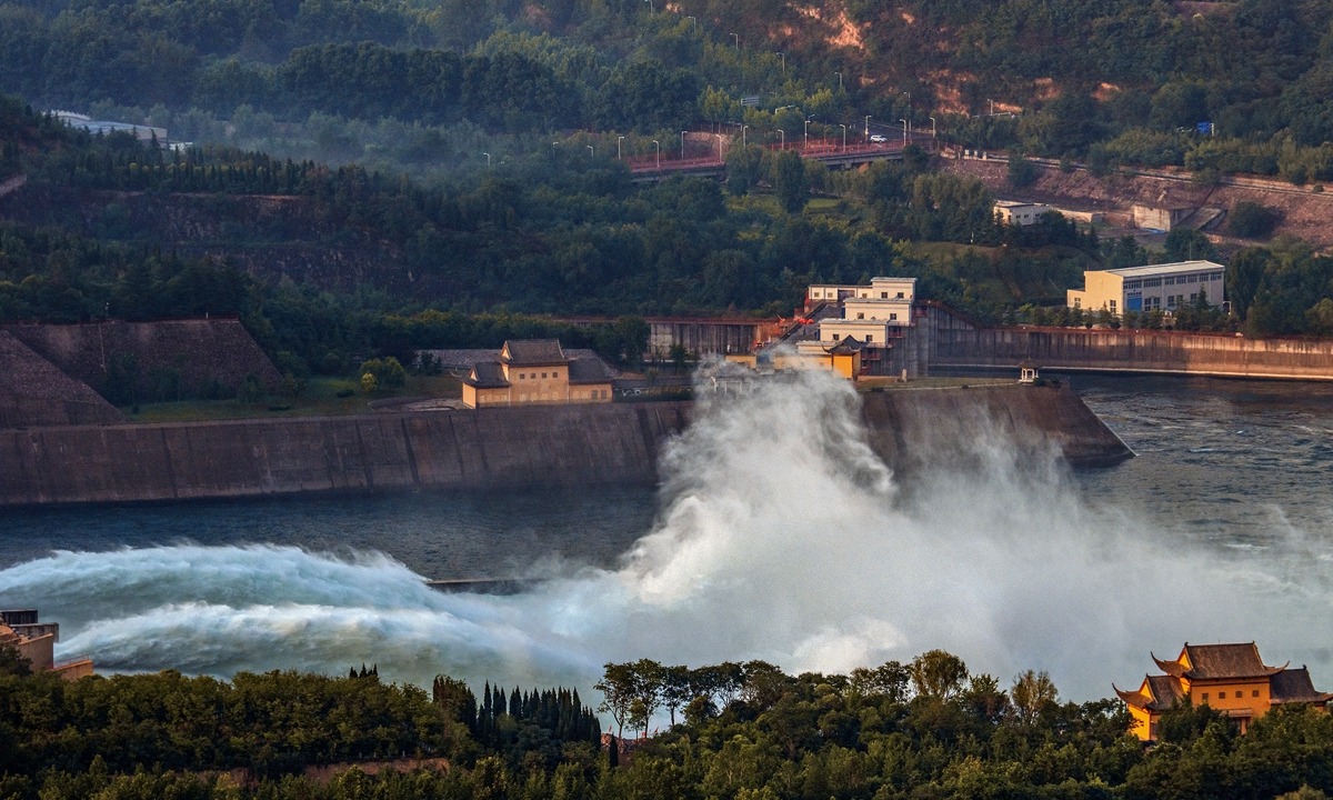 Xiaolangdi Reservoir Dam in Luoyang in China's Central Henan Provine Photo: VCG