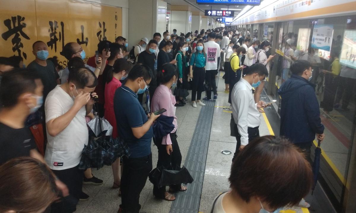 Zhengzhou subway Photo: VCG