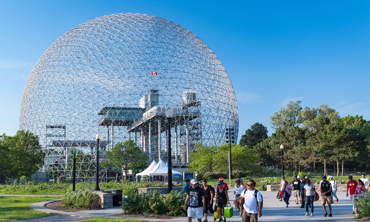 The Biosphere environment museum in Montreal, Canada Photo: VCG