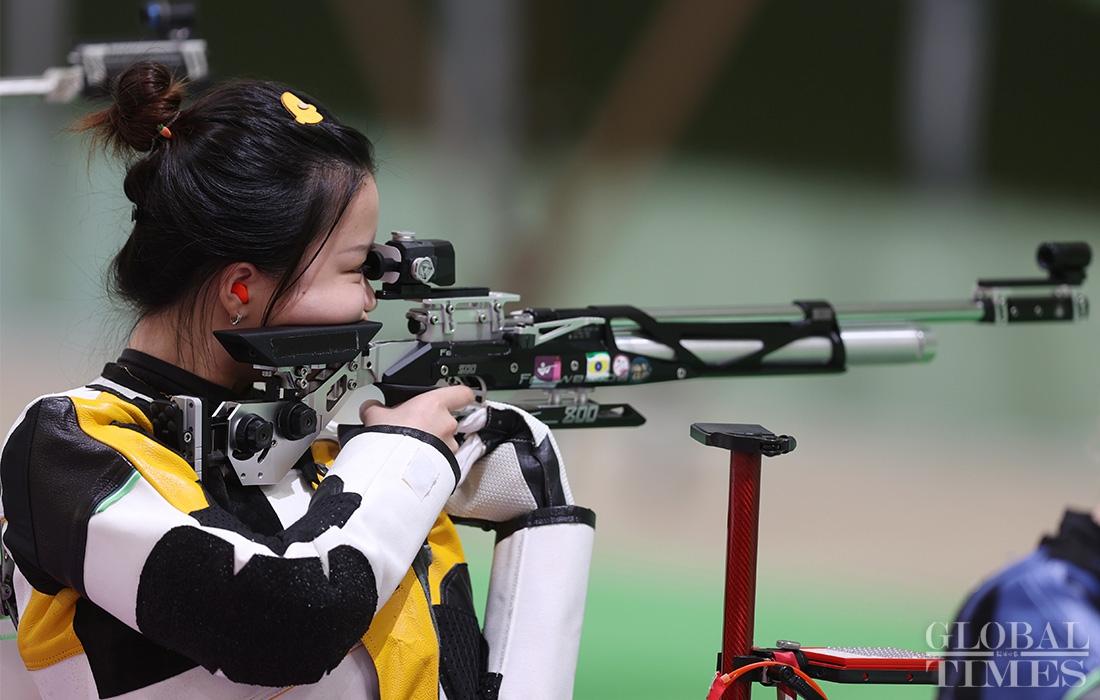 Yang Qian wins Tokyo Olympics first gold medal Photo:Cui Meng/GT