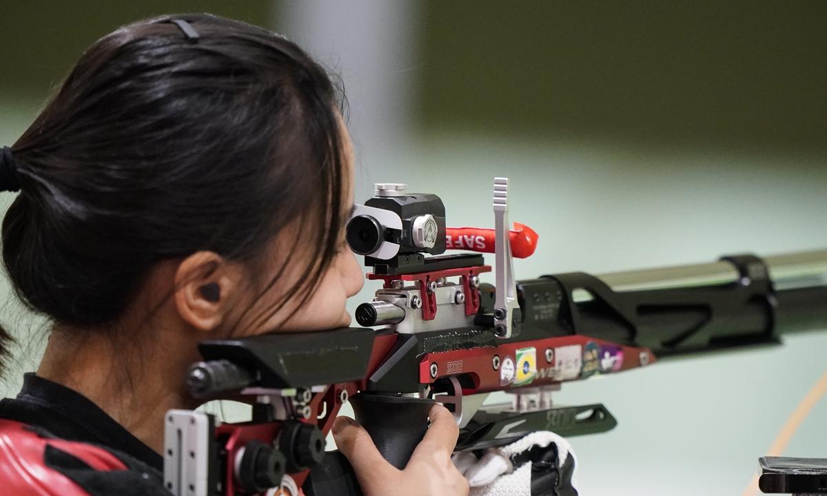 Chinese athlete Wang Luyao Photo: VCG