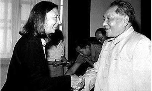 Deng Xiaoping gives an interview to Oriana Fallaci.