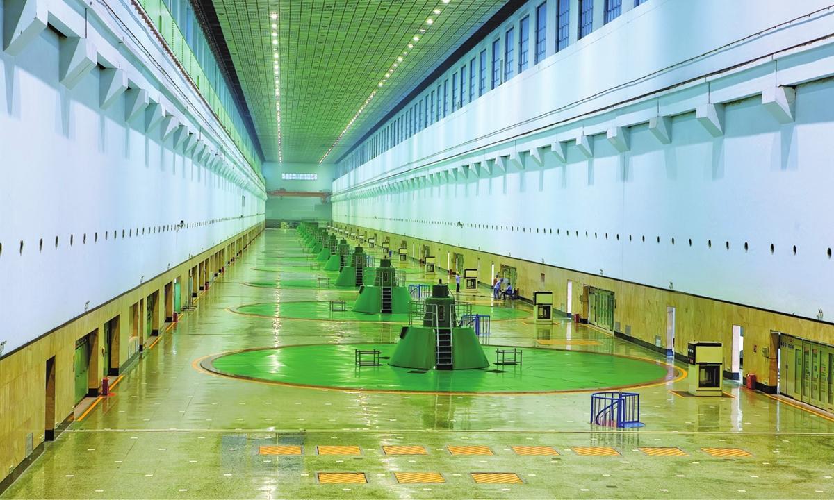 A view of Gezhouba Dajiang Hydropower Plant  Photo: Liu Hengsheng/Courtesy of Three Gorges Corporation