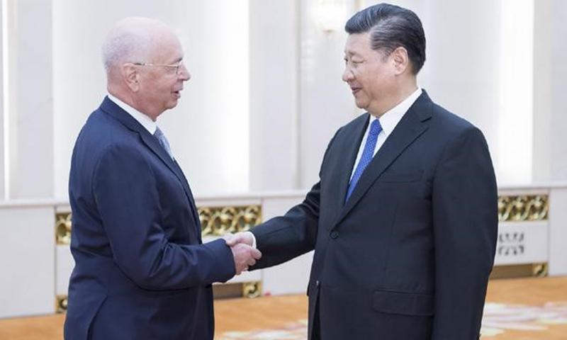 Xi Jinping meeting with WEF Executive Chairman Klaus Schwab