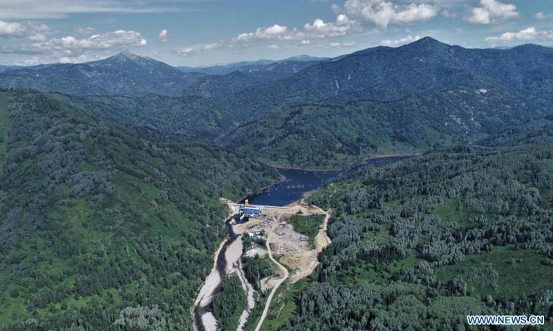 Aerial photo taken on July 29, 2021 shows a view of the China-built Turgusun hydropower station on the Turgusun River near the city of Altai, Kazakhstan. Photo:Xinhua