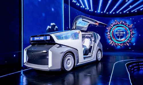 Baidu Apollo self-driving robot vehicle