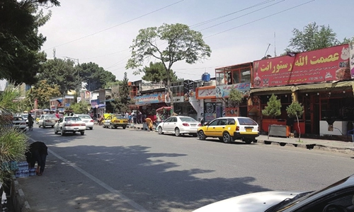 A snapshot taken from a street in Kabul, Afghanistan, on August 17  Photo: IC