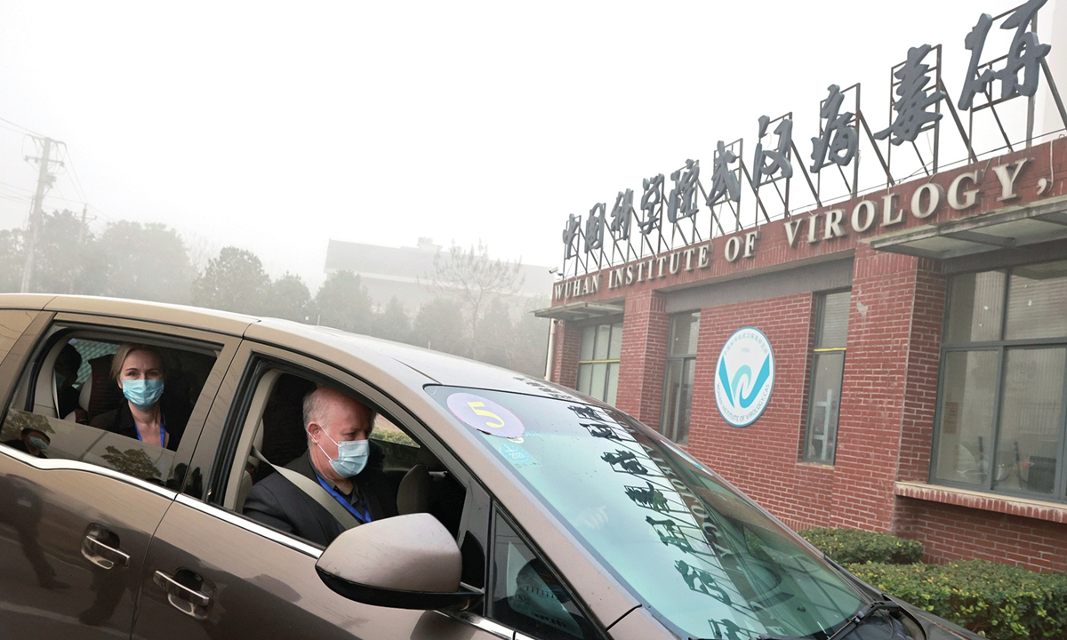 Members of the World Health Organization team tasked with investigating the origins of the COVID-19, arrive at Wuhan Institute of Virology on February 3, 2021. Photo: IC