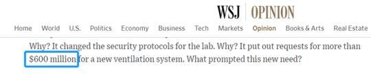 Screenshot from The Wall Street Journal