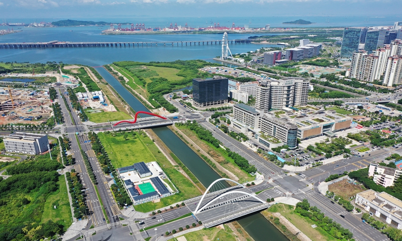 Qianhai Shenzhen-Hong Kong Modern Service Industry Cooperation Zone in South China's Guangdong Province Photo: VCG
