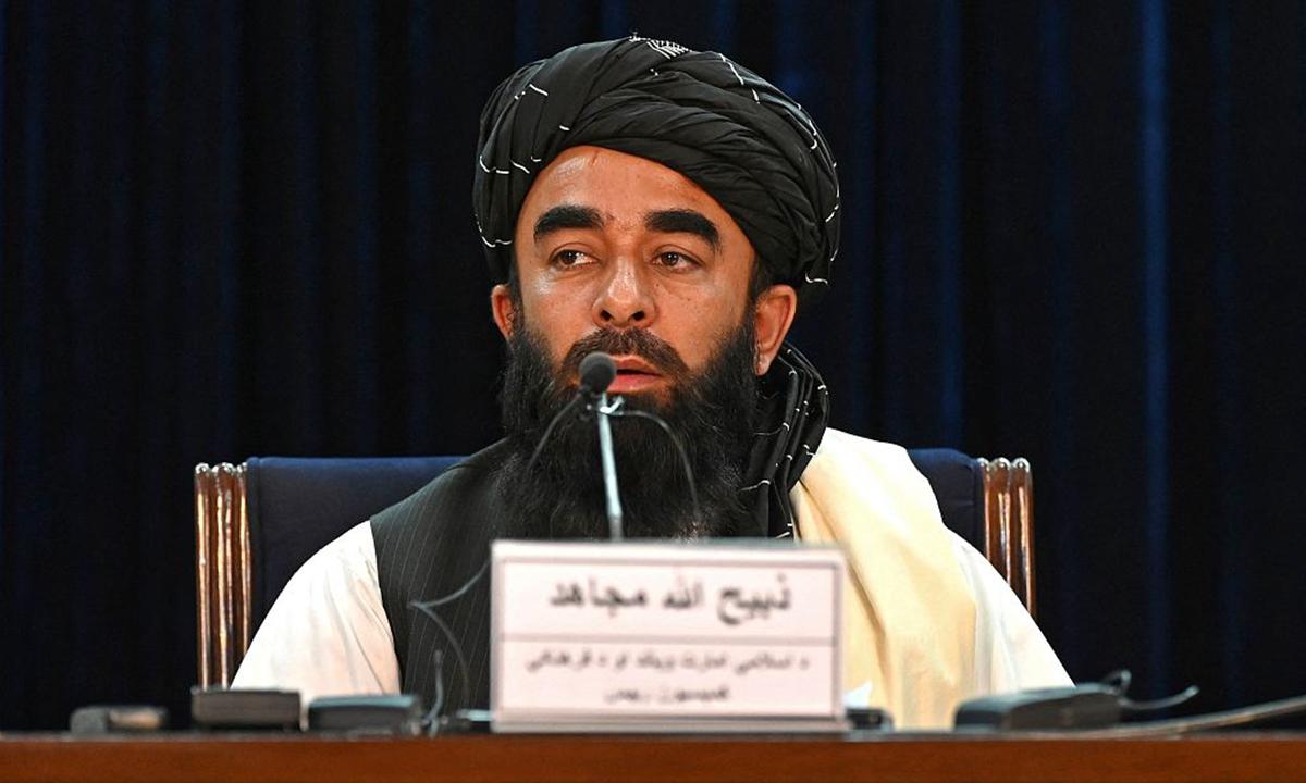 Taliban spokesperson Zabihullah Mujahid Photo: CFP