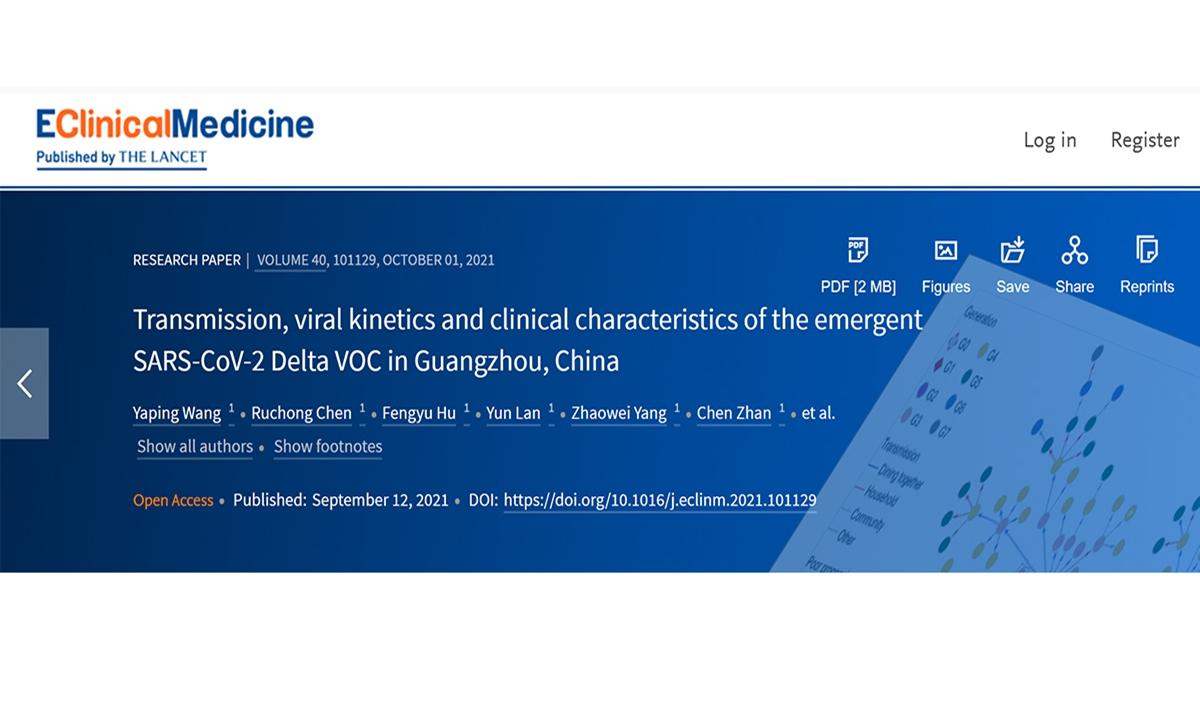 Screenshot from thelancet.com