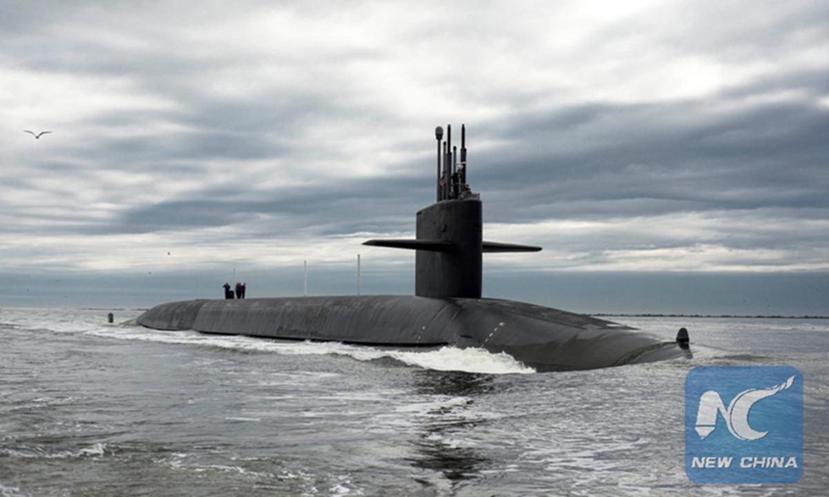 The Ohio-class ballistic missile submarine USS Tennessee returns to Naval Submarine Base Kings Bay, Georgia, US.  Photo: Xinhua