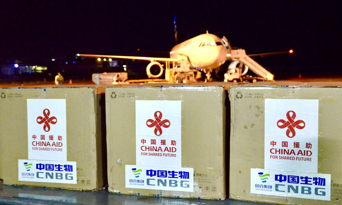 Chinese-developed COVID-19 vaccines arrive in the Solomon Islands on April 14.  Photo: Xinhua