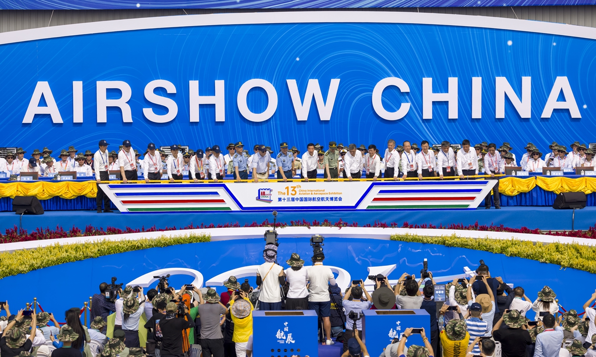 The 13th China International Aviation and Aerospace Exhibition, or Airshow China 2021, kicks off in Zhuhai, South China's Guangdong Province, on Tuesday. Photo: