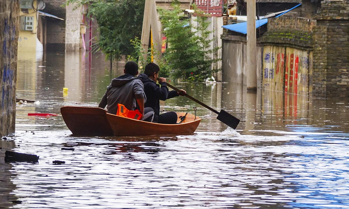 Shanxi floods Photo:VCG