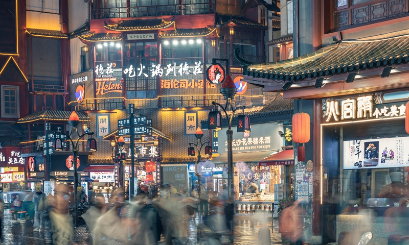 A night view of Changsha in Central China's Hunan Province. Photo: VCG